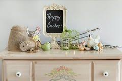 Intérieur à la maison de Pâques Intérieur à la maison saisonnier Photos stock