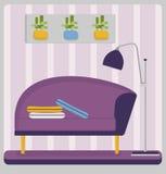 Intérieur à la maison de salon avec les meubles confortables Photo stock