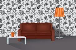 Intérieur à la maison de salon Meubles de salon avec le sofa Photos stock