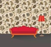 Intérieur à la maison de salon Meubles de salon avec le sofa Images stock
