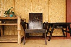 Intérieur à la maison tropical Images stock