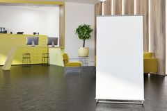 Intérieur élégant jaune de bureau, affiche illustration libre de droits