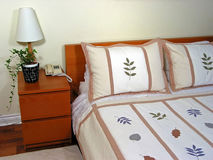 Intérieur 2 de chambre à coucher Photos stock
