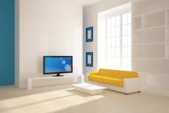 Intérieur 3d blanc Photo stock