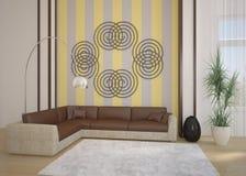 intérieur 3d moderne Photo stock