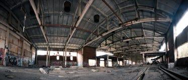 Intérieur abandonné de centrale Photo libre de droits