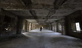 Intérieur abandonné de chambre d'hôtel Images stock