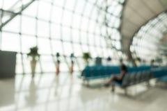 Intérieur abstrait d'aéroport de tache floue Photographie stock