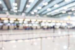 Intérieur abstrait d'aéroport de tache floue Photos libres de droits