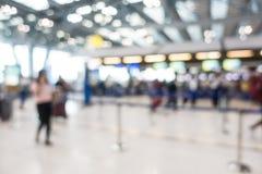Intérieur abstrait d'aéroport de tache floue Image libre de droits