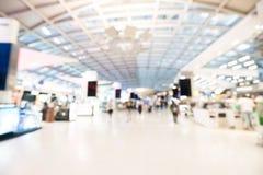 Intérieur abstrait de terminal d'aéroport de tache floue Images stock