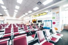 Intérieur abstrait de terminal d'aéroport de tache floue Images libres de droits