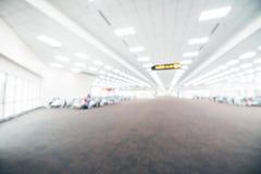 Intérieur abstrait de terminal d'aéroport de tache floue Image stock
