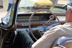 Intérieur américain classique de voiture Images stock