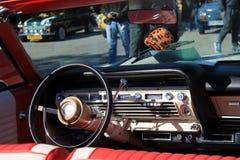 Intérieur américain classique de voiture Image stock