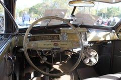 Intérieur américain classique de voiture Photo stock