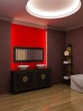 Intérieur asiatique de salle de bains de type Image stock