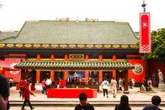 Intérieur au temple de taoist de Che Kung en étain de Sha image stock