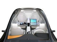 Intérieur autonome de voiture illustration stock