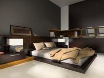 Intérieur aux chambres à coucher illustration libre de droits