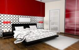 Intérieur aux chambres à coucher illustration stock