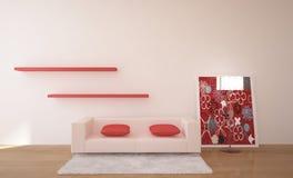 Intérieur avec des meubles Photographie stock libre de droits
