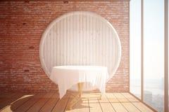 Intérieur avec la table vide illustration libre de droits