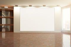 Intérieur avec la toile vide Image libre de droits