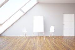 Intérieur avec le tableau blanc Photo libre de droits