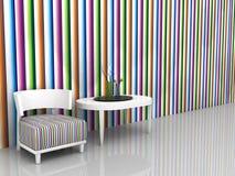 Intérieur avec les meubles et les articles blancs photographie stock
