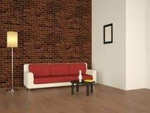 Intérieur avec un sofa illustration libre de droits