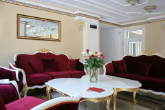 Intérieur baroque d'hôtel de style photos stock