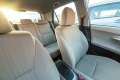 Intérieur beige de voiture Photo stock