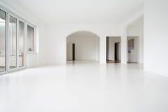 Intérieur blanc d'appartement image libre de droits