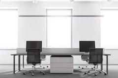 Intérieur blanc de bureau de grenier Photo libre de droits