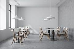 Intérieur blanc de café de style industriel illustration de vecteur