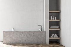 Intérieur blanc de salle de bains, baquet de marbre illustration libre de droits