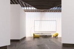 Intérieur blanc de salon, tableau blanc, avant illustration libre de droits