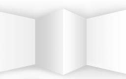 Intérieur blanc vide abstrait avec des coins et des murs vides Photos libres de droits