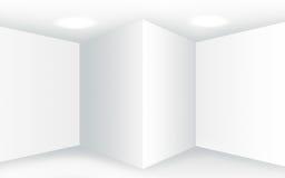 Intérieur blanc vide abstrait avec des coins et des murs vides Photo libre de droits