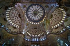 Intérieur bleu de mosquée Image stock
