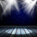 Intérieur brillé avec un projecteur Image libre de droits