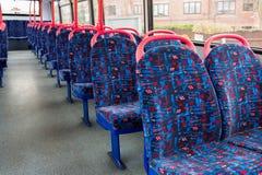 Intérieur britannique d'autobus photos libres de droits