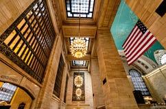 Intérieur central grand de Termiinal/station Photos stock