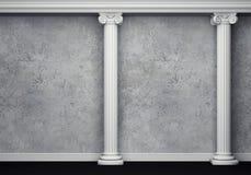 Intérieur classique avec la colonne Photographie stock
