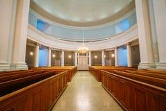 Intérieur classique de cathédrale de Helsinki Photo libre de droits