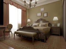 Intérieur classique de chambre à coucher de vintage Photos stock