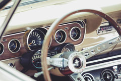 Intérieur classique de véhicule Photos stock