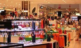Intérieur complexe de Lotte Shopping Images libres de droits