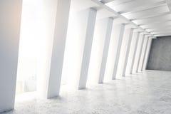 Intérieur concret abstrait de tunnel illustration stock